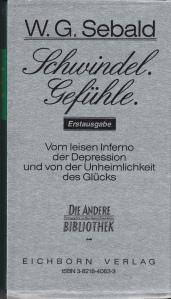 Sebald Schwindel Gefuhle with cover