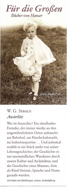 W. G. Sebald Sebald, W. G. - Essay