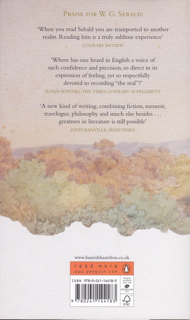 Sebald Place in the Country Back Cover