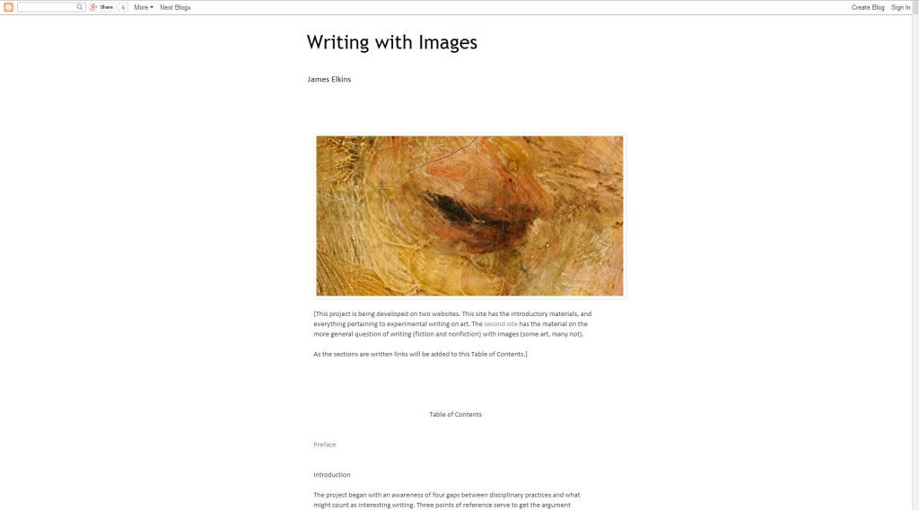 Writing with images screen
