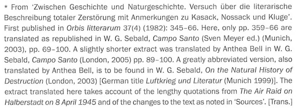 Kluge Air Raid Footnote