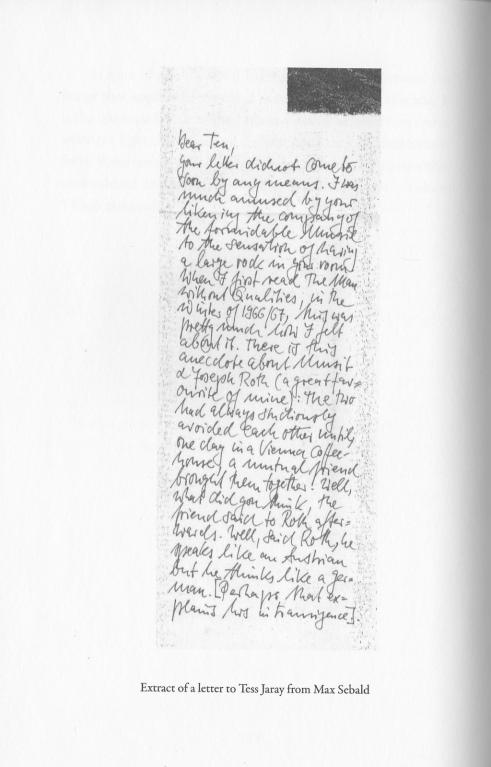 Jaray Sebald Letter
