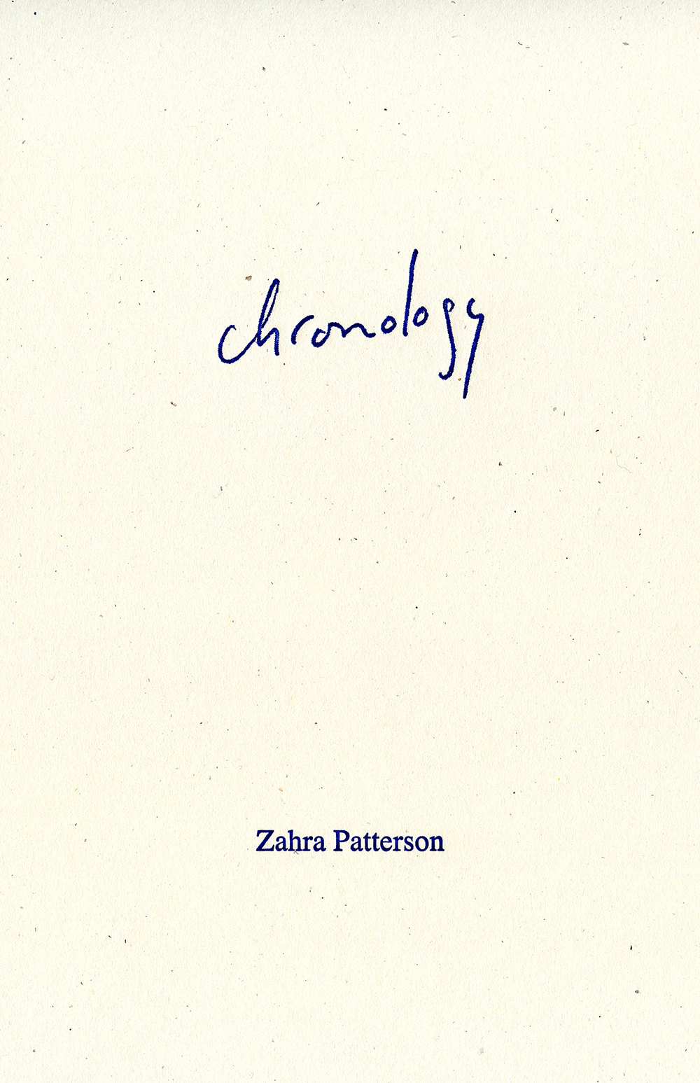 Chronology Patterson